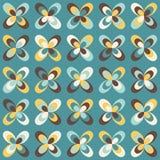 Teste padrão retro geométrico do Midcentury, cores do vintage ilustração stock