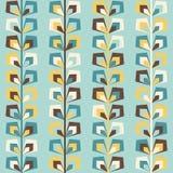 Teste padrão retro geométrico do Midcentury, cores do vintage ilustração do vetor