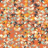 Teste padrão retro geométrico do Midcentury, cores do vintage, papéis de parede retros ilustração do vetor