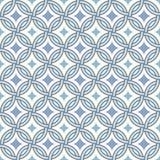 Teste padrão retro - linhas, círculos e estrelas do diamante Fotografia de Stock