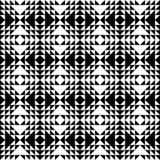 Teste padrão retro monocromático Ilustração Stock