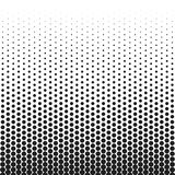 Teste padrão retro pontilhado reticulação dos inclinações do vintage Ilustração monocromática do pop art Imagem de Stock