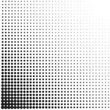 Teste padrão retro pontilhado reticulação dos inclinações do vintage Ilustração monocromática do pop art Fotos de Stock Royalty Free