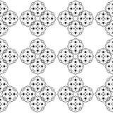 Teste padrão retro preto e branco Fotografia de Stock Royalty Free
