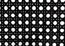 Teste padrão retro preto e branco do weave Fotos de Stock
