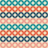 Teste padrão retro sem emenda Círculos de cruzamento Geome colorido Ilustração Stock