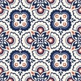 Teste padrão retro sem emenda com elementos florais ilustração royalty free