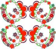 Teste padrão retro sem emenda do fundo romântico da flor Fotos de Stock Royalty Free