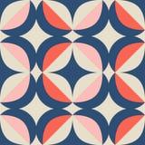 Teste padrão retro sem emenda no estilo escandinavo com elementos geométricos ilustração stock