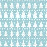 Teste padrão retro sem emenda simples do Natal - árvores variadas do Xmas Ilustração Stock