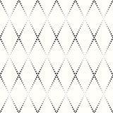 Teste padrão Rhombic de pontos pretos pequenos Fotografia de Stock Royalty Free