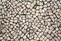 Teste padrão rochoso em Lisboa, Portugal imagem de stock