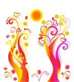 Teste padrão romântico abstrato Imagem de Stock Royalty Free