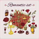 Teste padrão romântico do jantar Foto de Stock Royalty Free