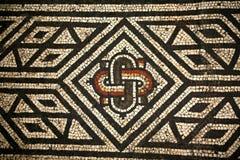 Teste padrão romano de Abstact do mosaico Fotos de Stock Royalty Free