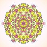 Teste padrão, rosa e amarelo redondos Fotografia de Stock Royalty Free