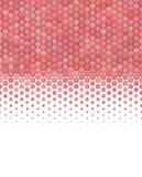 teste padrão rosa vermelha macio da bolha do inclinação 3d Fotografia de Stock