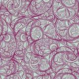 Teste padrão roxo de paisley Fotos de Stock