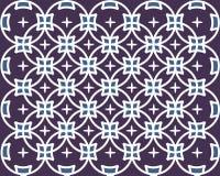Teste padrão roxo do batik Fotografia de Stock