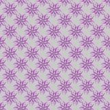 teste padrão roxo do esboço das flores Fotos de Stock