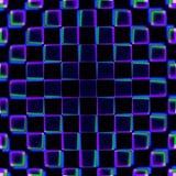 Teste padrão roxo e azul dos quadrados Imagem de Stock