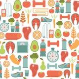 Teste padrão saudável da vida ilustração stock