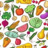 Teste padrão saudável do alimento ilustração do vetor