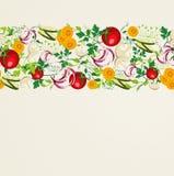 Teste padrão saudável do alimento biológico ilustração stock
