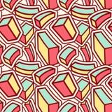 Teste padrão sem emenda à moda com os cubos coloridos curvados ilustração stock