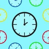 Teste padrão sem emenda à moda de relógios mecânicos Imagem de Stock Royalty Free