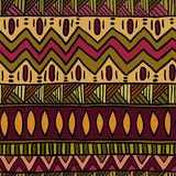 Teste padrão sem emenda étnico Cópia de matéria têxtil do sumário de Boho Fotos de Stock