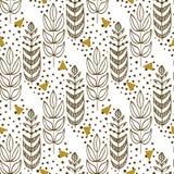 Teste padrão sem emenda étnico com árvores à moda Textura infinita para a tela, matéria têxtil, tampas, fundos, envolvendo, proje Foto de Stock Royalty Free