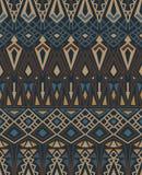 Teste padrão sem emenda étnico com o ornamento tradicional indiano americano em cores marrons Fundo tribal ilustração do vetor