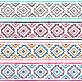 Teste padrão sem emenda étnico Ornamento geométrico Motivos tribais Summ Fotos de Stock
