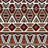 Teste padrão sem emenda étnico Ornamento geométrico pintado à mão blA Fotografia de Stock