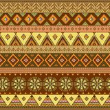 Teste padrão sem emenda étnico Textura colorida do fundo da beira ilustração stock