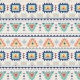 Teste padrão sem emenda étnico Textura geométrica asteca no vetor Imagens de Stock Royalty Free