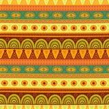 Teste padrão sem emenda étnico Textura tribal tirada mão no vetor Fotos de Stock Royalty Free