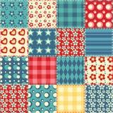 Teste padrão sem emenda 2 do Quilt Foto de Stock Royalty Free