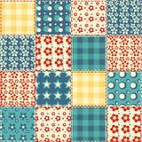 Teste padrão sem emenda 3 do Quilt Imagem de Stock
