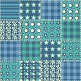 Teste padrão sem emenda 4 do Quilt Fotografia de Stock Royalty Free