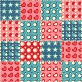 Teste padrão sem emenda 5 do Quilt Imagem de Stock Royalty Free