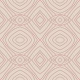 Teste padrão sem emenda abstrato bege com mão linear o ornamento tirado Imagens de Stock Royalty Free