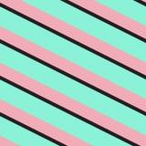 Teste padrão sem emenda abstrato com as listras diagonais pretas Foto de Stock
