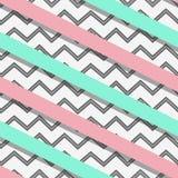 Teste padrão sem emenda abstrato com as listras diagonais pretas Foto de Stock Royalty Free