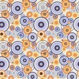 Teste padrão sem emenda abstrato com círculos concêntricos Fotos de Stock Royalty Free