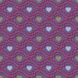 Teste padrão sem emenda abstrato com corações Dia de Valetines ou de menina ilustração do vetor