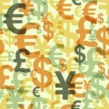 Teste padrão sem emenda abstrato com dinheiro Imagens de Stock