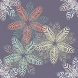 Teste padrão sem emenda abstrato com flores Imagens de Stock