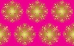 Teste padrão sem emenda abstrato com flores Foto de Stock Royalty Free